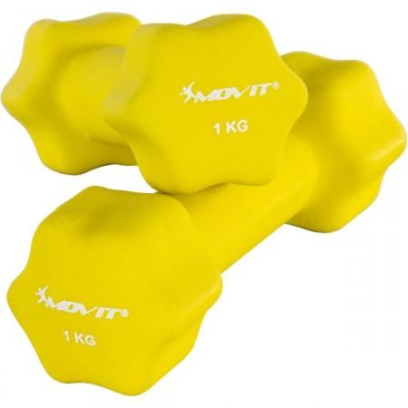 2 dámské šestiúhelníkové činky s neoprenovým potahem 1 kg