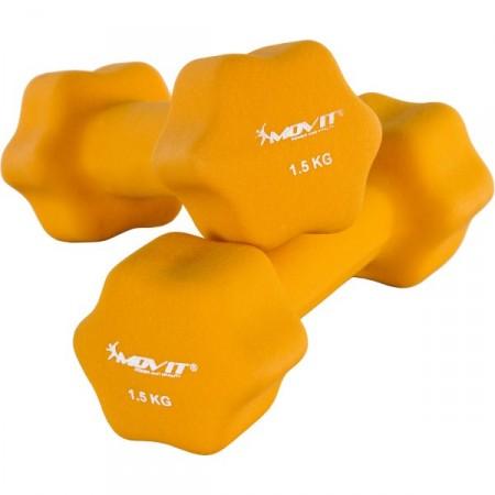 2 dámské šestiúhelníkové činky s neoprenovým potahem 1,5 kg