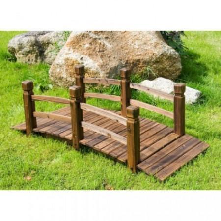 Zahradní dřevěný most 150 x 67 x 55 cm, borovice