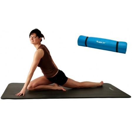 Podložka na jógu, aerobik a cvičení, tloušťka 1,5 cm, tyrkysová